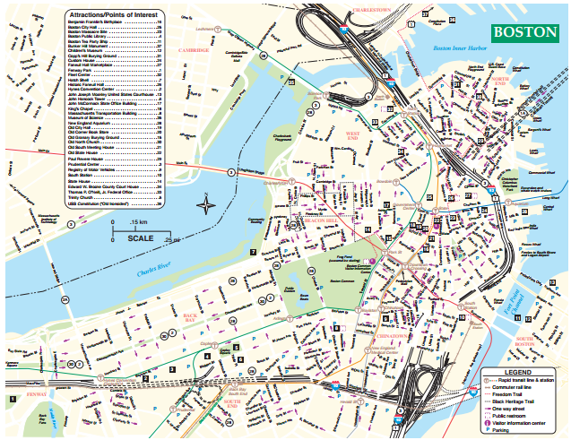 Morale Wellbeing And Recreation: Map Of Boston Downtown At Usa Maps